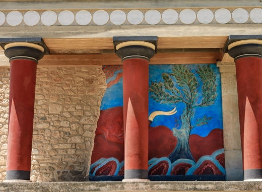 Knossos palace, close view