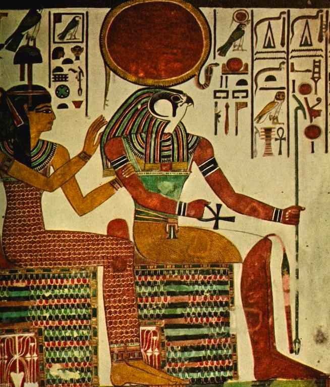 ancient-egyptian-wall-paintings-1956-horus-unknown